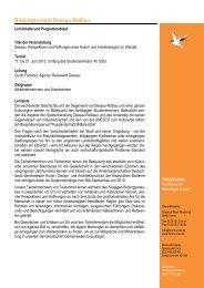Geplanter Programmablauf Bildungsurlaub Dessau 2013... - Forum Unna