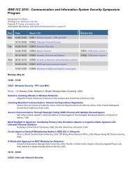 IEEE ICC 2010 - Communication and Information System Security ...