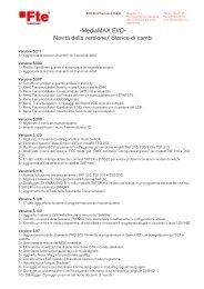 -MediaMAX EVO- Novità della versione/ Storico di ... - FTE Maximal