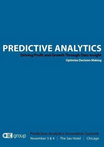 Event: Predictive Analytics Innovation Summit - Fractal Analytics
