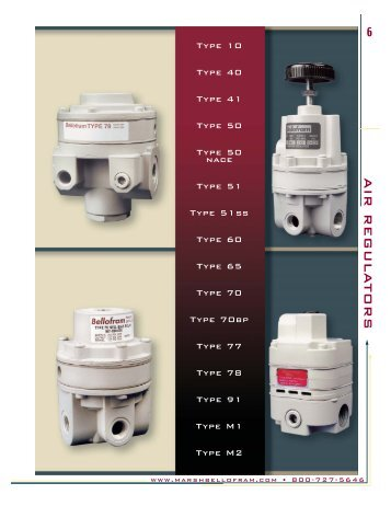Air Line Regulator Summary Catalog.