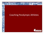 Coaching Paralympic Athletes