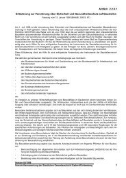 Erläuterung zur Verordnung über Sicherheit und Gesundheitsschutz ...