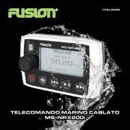 TELECOMANDO MARINO CABLATO MS-NRX200i - Fusion