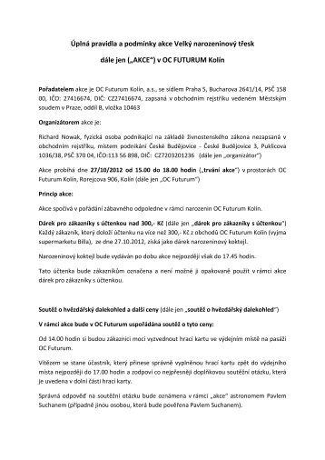 Kompletní pravidla akce naleznete zde - OC Futurum Kolín ec78a650ed
