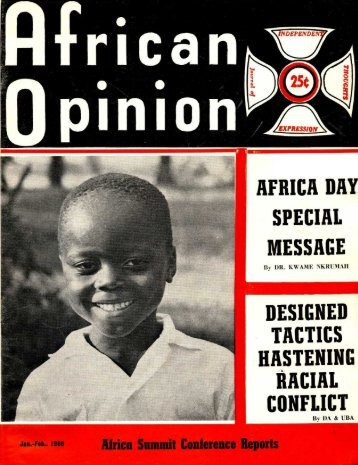 African Opinion - Freedom Archives