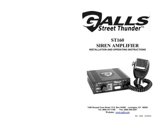 ST160 - SS750 - Galls on