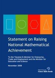 Raising National Mathematical Achievement - Skills Ireland