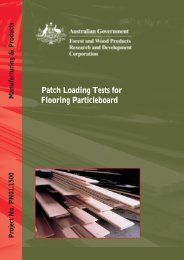Patch Loading Tests for Flooring Particleboard - Forest and Wood ...