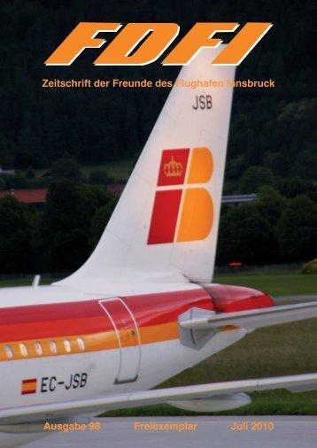 Zeitschrift der Freunde des Flughafen Innsbruck - Flughafen-freunde.at