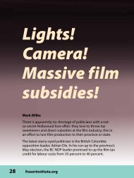 Lights! Camera! Massive film subsidies! - CSR - Fraser Institute