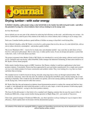 Drying lumber with solar energy .pdf - ForestNet