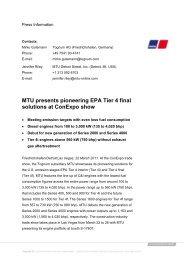 MTU presents pioneering EPA Tier 4 final solutions at Conexpo show