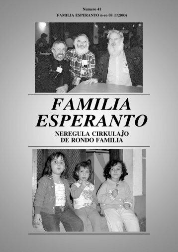 FAMILIA ESPERANTO - Universala Esperanto-Asocio
