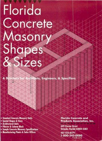 FC&PA's Concrete Masonry Shapes & Sizes (1989) - Historical ...