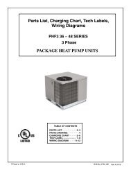 Parts List, Charging Chart, Tech Labels, Wiring Diagrams PACKAGE ...