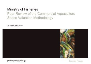 Peer Review Report - Ministry of Fisheries