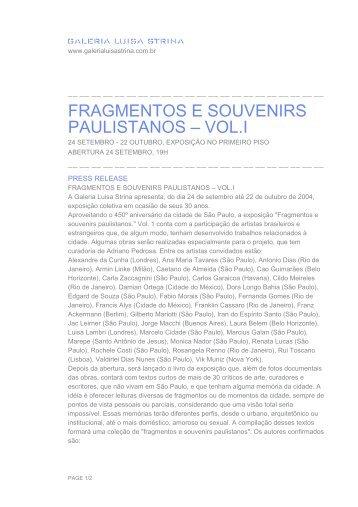 download do press release [.pdf] - Galeria Luisa Strina