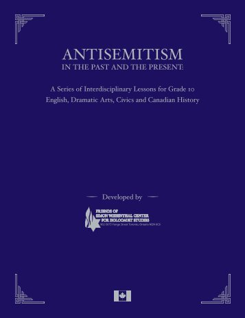 Antisemitism Curriculum - Friends of Simon Wiesenthal Center For ...