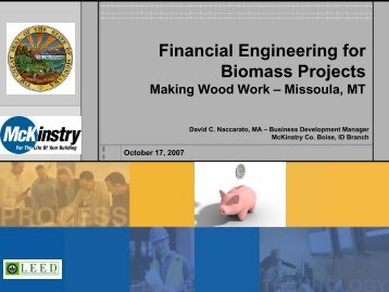 Financial Engineering for Biomass Projects - Fuels for Schools and ...