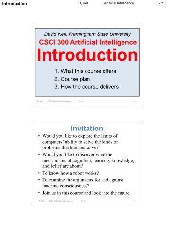 Artificial Intelligence - Framingham State University