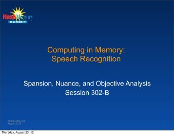 Spansion Acoustic Coprocessor - Flash Memory Summit