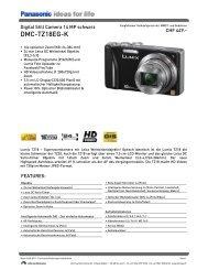 Datenblatt DMC-TZ18EG-K - Foto Basler Aarau