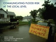 COMMUNICATING FLOOD RISK AT THE LOCAL LEVEL