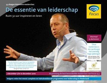 De essentie van leiderschap - Focus Conferences