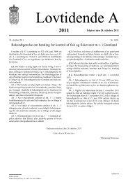 Bekendtgørelse nr. 1003 af 26. oktober 2011 om - Fødevarestyrelsen