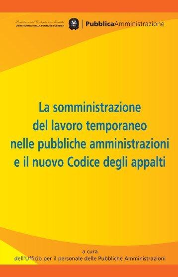 somministrazione del lavoro - Dipartimento Funzione Pubblica