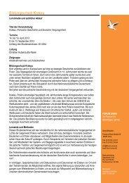 Geplanter Programmablauf Bildungsurlaub Krakau 2013... - Forum Unna