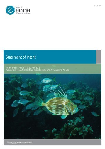 Statement of Intent 2010 to 2015 - Ministry of Fisheries