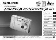 FinePix A203/A303 Owner's Manual