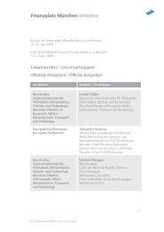 Teilnehmerliste - Finanzplatz München Initiative