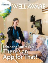 Winter 2013: Enhancing Patient Care - Frederick Memorial Hospital