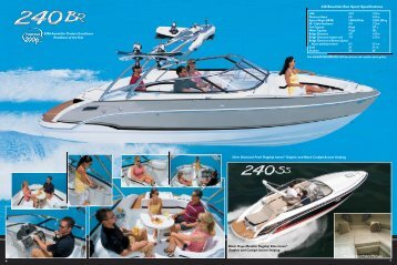 240 Bowrider/Sun Sport Specifications - Formula Boats