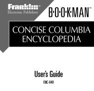 concise columbia encyclopedia - Franklin Electronic Publishers, Inc.