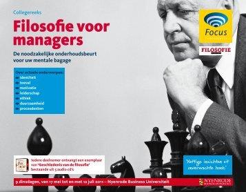 Filosofie voor managers - Focus Conferences