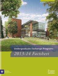 Undergraduate Exchange Programs 2013-14 Factsheet