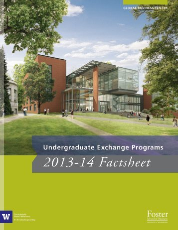 Undergraduate Exchange Programs 2013-14 Factsheet