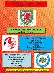 San Marino v Wales, San Marino - Football Supporters' Federation