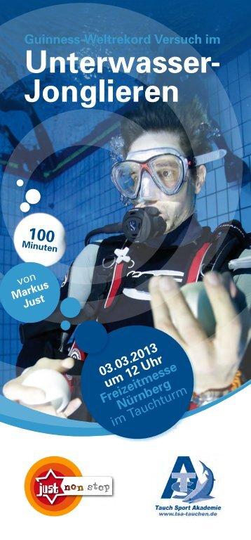 Unterwasser- Jonglieren - Freizeit Messe Nürnberg