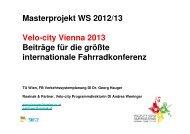 Masterprojekt WS 2012/13 Velo-city Vienna 2013 Beiträge für die ...