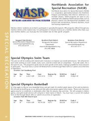 Northlands Association for Special Recreation (NASR)