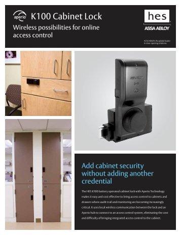 ASSA Aperio K100 Cabinet Lock Brochure - Galaxy Control Systems