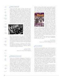 Les mots des pr é sidents - Fondation pour la Mémoire de la Shoah