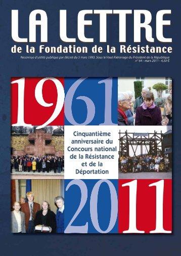 Lettre n°64 - Fondation de la Résistance