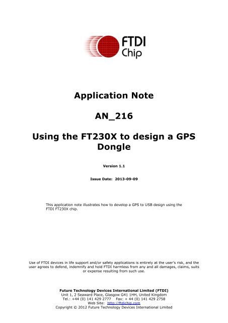 FTDI-FT-X-GPS GPS-Global Positioning Dongle