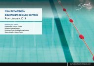 Pool timetable from January 2013 - Fusion Lifestyle